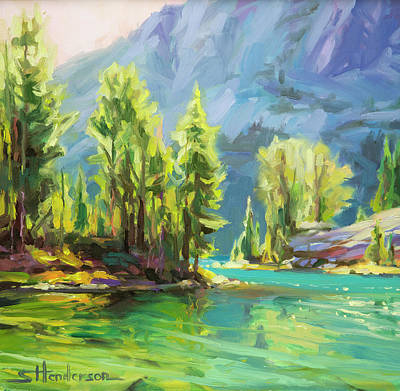Countryside Painting - Shades Of Turquoise by Steve Henderson
