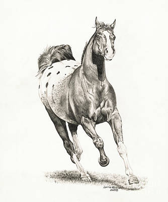 Wild Horses Drawing - Shadow 1 by Lorrie Kalena
