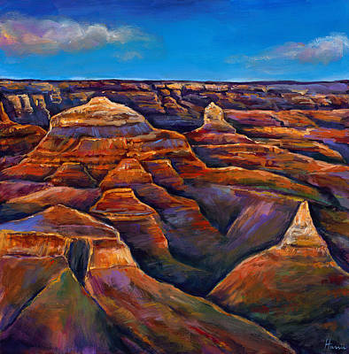 Expressionistic Painting - Shadow Canyon by Johnathan Harris