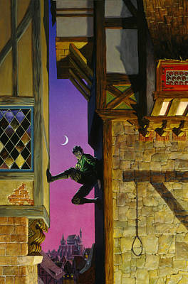 Knights Castle Painting - Shadow Climber by Richard Hescox