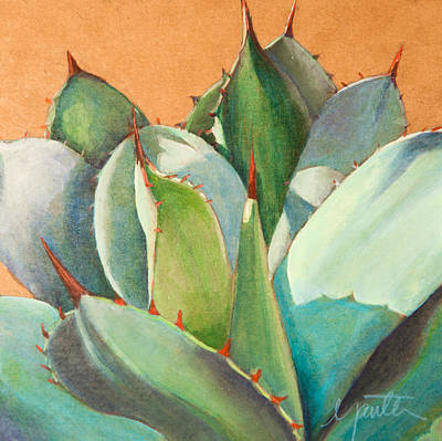 Cactus Painting - Shadow Dance 2 by Athena Mantle Owen