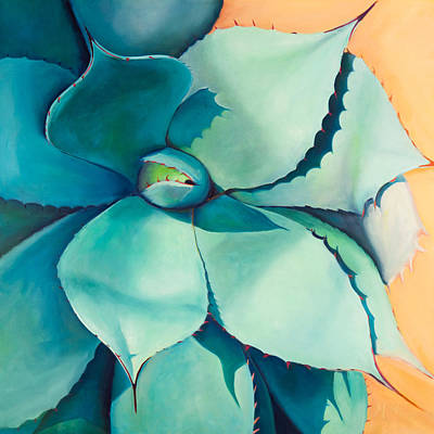 Agave Painting - Shadow Dance 4 by Athena  Mantle