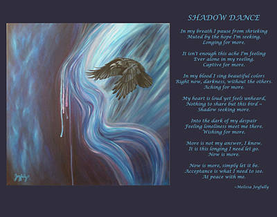 Painting - Shadow Dance With Poem by Melissa Joyfully