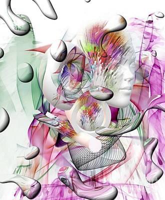 Digital Art - Shadow Face By Nico Bielow by Nico Bielow