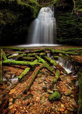 Photograph - Shadow Falls Idaho by Leland D Howard
