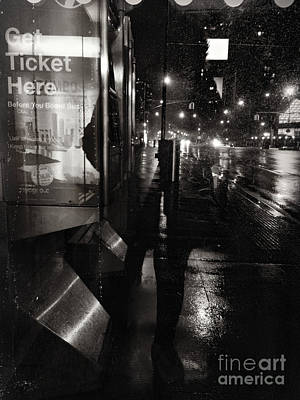 Photograph - Shadow Girl Bus Stop by Miriam Danar