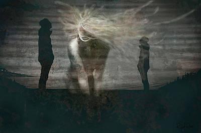Digital Art - Shadow Girl by Richard Ricci