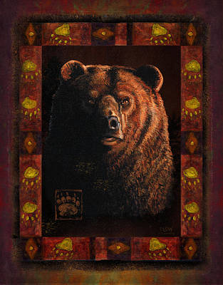 Grizzly Painting - Shadow Grizzly by JQ Licensing