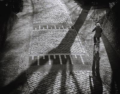 Cyclist Photograph - Shadow by Henk Van Maastricht