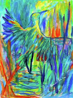 Painting - Shadow Heron by Kendall Kessler