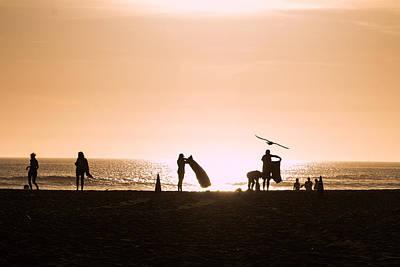 Southern California Sunset Beach Photograph - Shadow by Hyuntae Kim