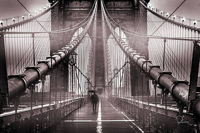 Bridge Photograph - Shadow Man by Az Jackson