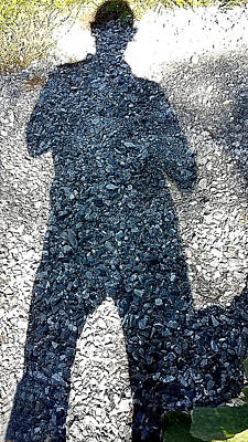 Photograph - Shadow Man by Richard Ortolano