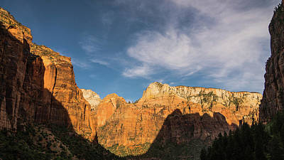 Photograph - Shadow Mountain Zion National Park Utah by Lawrence S Richardson Jr