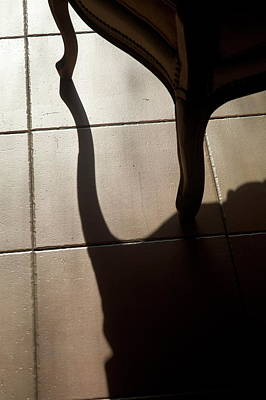 Shadow Of An Armchair On A Tiled Floor Art Print by Sami Sarkis