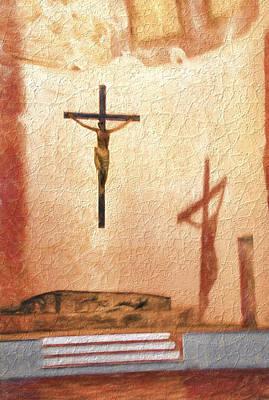Shadow Of Christ Art Print