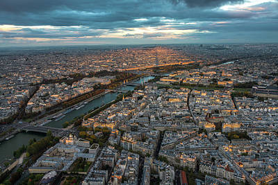 Photograph - Shadow Of The Eiffel Tower by Mike Reid