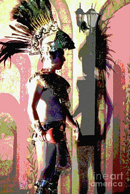 Mexican Folk Dance Digital Art - Shadow Of The Past by Anna  Duyunova