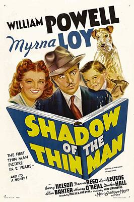 Postv Photograph - Shadow Of The Thin Man, Myrna Loy by Everett