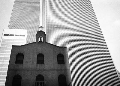 Black And White Photograph - Shadow Of World Trade Center by Dave Beckerman