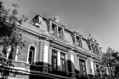 Photograph - Shadow On The Building In Santiago by John Rizzuto