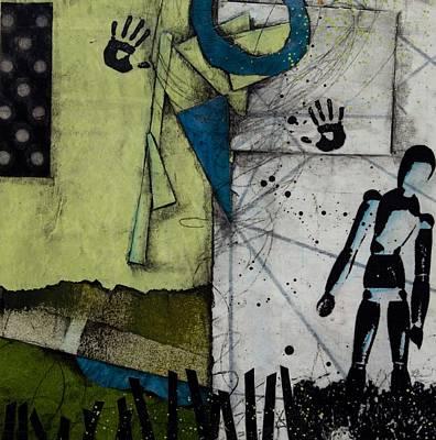 Splatters Mixed Media - Shadow Or No Shadow by Laura Lein-Svencner