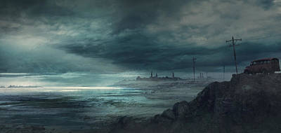 Painting - Shadow Over Innsmouth by Guillem H Pongiluppi