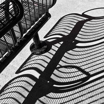 Photograph - Shadow Play. At The Station. by Miriam Danar