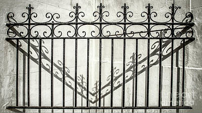 Photograph - Shadow Play With Wrought Iron by Frances Ann Hattier