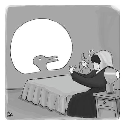 Optical Illusion Drawing - Shadow Puppet by Paul Noth