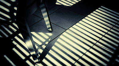 Photograph - Shadow Slit Abstract by John Williams