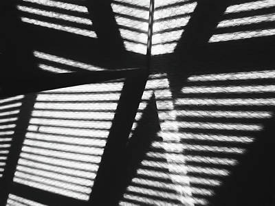 Photograph - Shadow Study Abstract by Mary Bedy