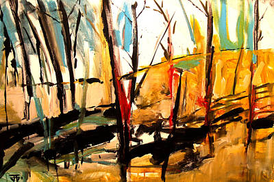 Painting - Shadow Trees by John Jr Gholson