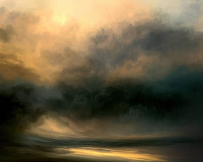Stormy Mixed Media - Shadow Valley by Lonnie Christopher