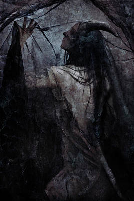 Shadow Veil Art Print by Cambion Art