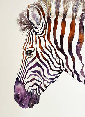 Painting - Shadow Violet Zebra by Arti Chauhan