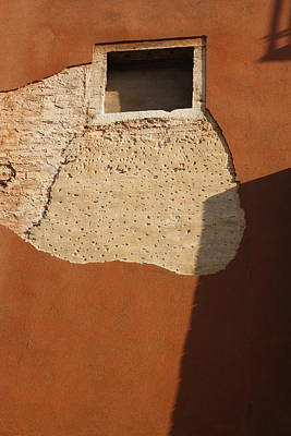 Shadow With Square Window In Venice Art Print by Michael Henderson