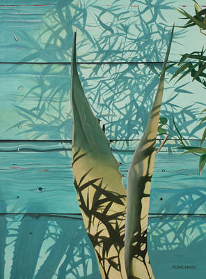 Hyperrealism Painting - Shadowed Agave by Michael Earney