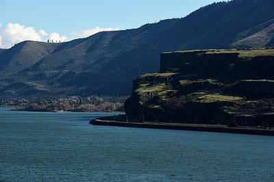 Photograph - Shadowed Cliffs On The Columbia by Tom Cochran