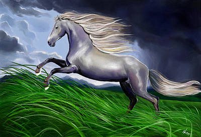 Digital Art - Shadowfax by Norman Klein