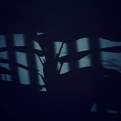 Photograph - Shadows Abstract - Blue by Frank J Casella