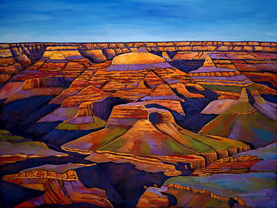 Canyons Painting - Shadows And Breezes by Johnathan Harris