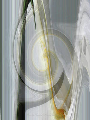 Shadows And Light - Iris Abstract - Manipulated Photography Art Print