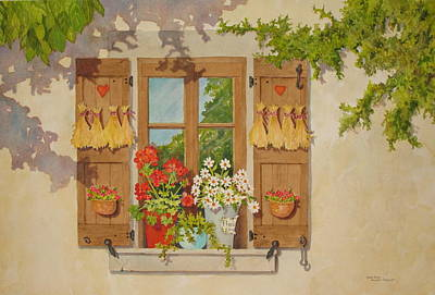 Painting - Shadows And Reflections by Mary Ellen Mueller Legault