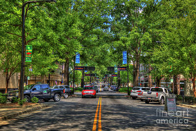 Photograph - Shadows And Shade Downtown Greenville South Caroline Art by Reid Callaway