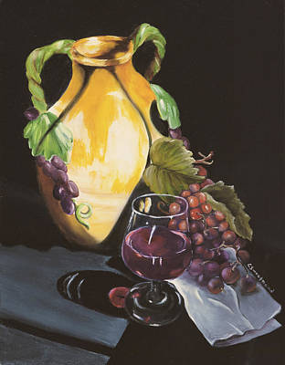 Painting - Shadows And Wine by Carol Sweetwood