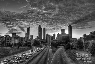 Photograph - Shadows Atlanta Sunset Cityscape Art by Reid Callaway