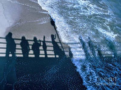 Redondo Beach Pier Wall Art - Digital Art - Shadows Day Off by Jennie Breeze