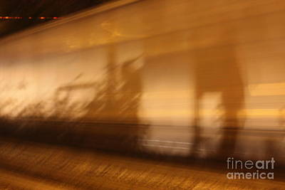 Photograph - Shadows From A High Speed Train by Brian Boyle