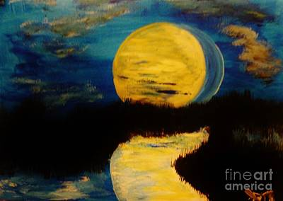 Painting - Shadows In The Moon by Marie Bulger